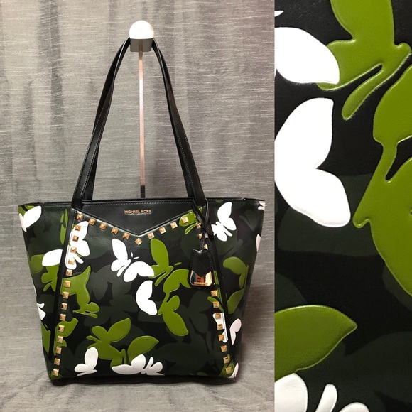 b0fd3596df68 Michael Kors Bags | Micheal Kors Whitney Butterfly Print Tote | Poshmark